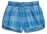 Splendid Girls' Gingham Check Print Shorts - Big Kid