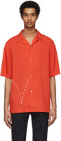 Paul Smith And Christoph Niemann and Christoph Niemann Red Bouncing Coconut Print Short Sleeve Shirt