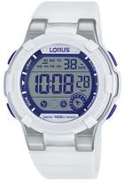 Lorus Digital Chronograph Purple/White Strap Watch