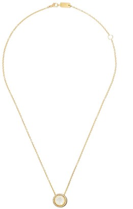 Ippolita 18kt yellow gold and yellow ceramic Lollipop Carnevale crystal and diamond pendant necklace