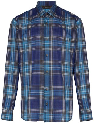 Ermenegildo Zegna Checked Button-Up Shirt
