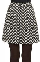 Molly Bracken Chevron Mini Skirt