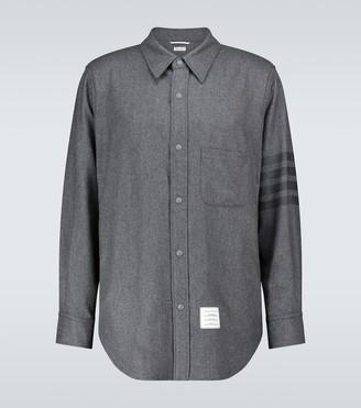 Thom Browne 4-Bar striped overshirt