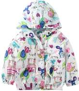 Little Spring LittleSpring Little Girls' Hoodies Little Bird Printing Size 6