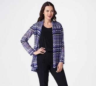 Susan Graver Sweater Knit Open Front Long-Sleeve Cardigan