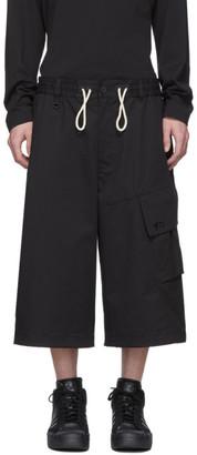 Y-3 Black Gabardine Cargo Shorts