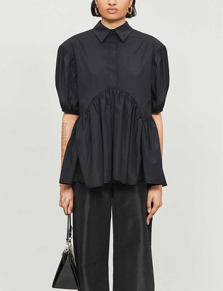 Cecilie Bahnsen Ellie puff-sleeved relaxed-fit cotton shirt