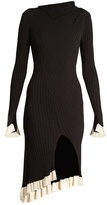 Esteban Cortazar Funnel-neck ribbed-knit dress