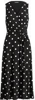 Ralph Lauren Polka-Dot-Print Jersey Dress