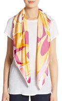 Saks Fifth Avenue Silk Paint Swirl Scarf
