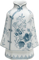 AA Importing 12 Floral Kimono Vase, Blue/White