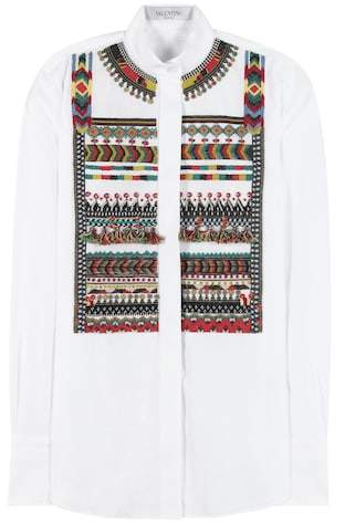 Valentino Embellished cotton shirt