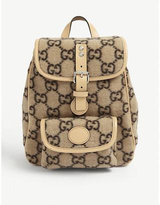 Gucci Kids GG-print boiled wool backpack
