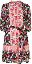 Saloni floral print shirt dress