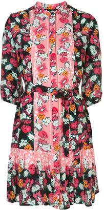Saloni Floral Print Shirt Dress