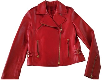 Valentino Red Leather Leather Jacket for Women