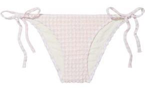 Solid & Striped The Charlotte Gingham Seersucker Low-rise Bikini Briefs