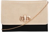 Tryst Style Bags Perforated Buckle Clutch