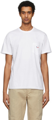 MAISON KITSUNÉ White Tricolor Fox T-Shirt