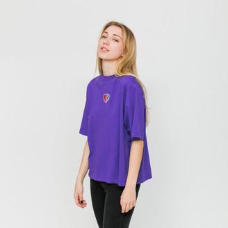 Lazy Oaf W - Purple Rainbow Love T-Shirt - S - Purple