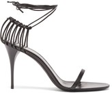 Saint Laurent Lexi Wrap-around Cage-heel Leather Sandals - Womens - Black