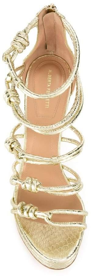 Alberta Ferretti knotted stiletto sandals