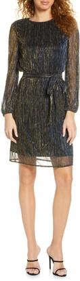 Sam Edelman Metallic Plisse Dress