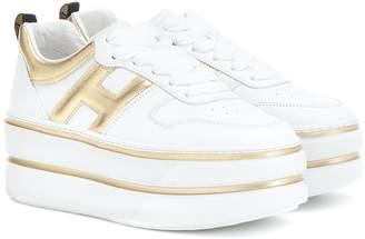 Hogan H449 leather platform sneakers