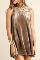 Umgee USA Velvet Keyhole Dress