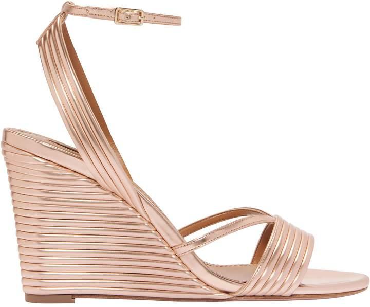 Aquazzura Sundance Wedge Ankle Strap Sandals