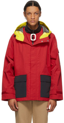 J.W.Anderson Red Color Hooded Jacket