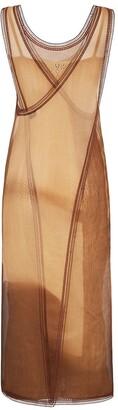 Fendi Tie-Dye Open Knit Detail Dress