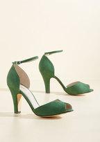 Demfon / Navid O Nadio Fine Dining Peep Toe Heel in Emerald