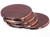 Just Slate Copper Coasters Set of 4