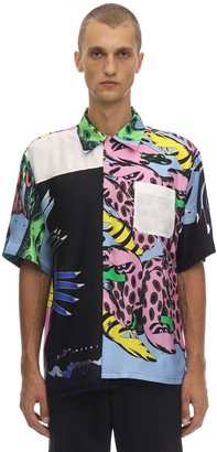 Marni Printed Short Sleeve Silk Shirt