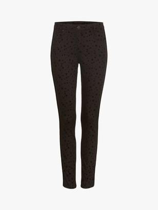 Phase Eight Aida Flocked Star Print Jeans, Black