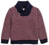 H&M Shawl-collar Sweater - Blue/patterned - Kids