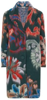 Tory Burch Wool Floral Intarsia Cardigan