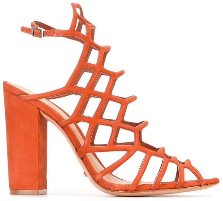 Schutz cage style heeled sandals