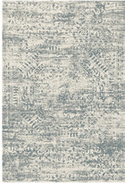 "Loloi Rugs Ivory, Blue Kingston Area Rug by Loloi, 1'6""x1'6"" Sample Swatch"