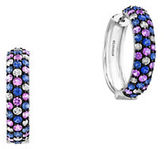 Effy 925 Sterling Silver and Tricolor Sapphire Hoop Earrings