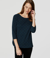 LOFT Filigree Jacquard Top