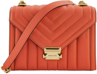 Michael Kors Large Convertible Whitney Shoulder Bag In Quilted Leather