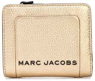 Marc Jacobs The Metallic Textured Box mini compact wallet