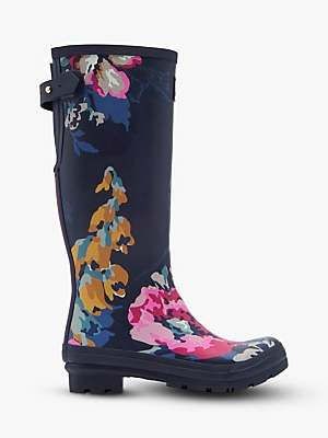 Joules Anniversary Floral Waterproof Tall Wellington Boots, Camfloral