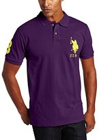 U.S. Polo Assn. Men's Solid Short Sleeve Pique Polo, Majesty Purple