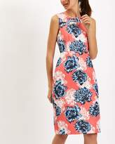 Jaeger Peony Print Jacquard Dress