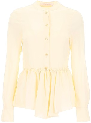 See by Chloe Basque Peplum Shirt