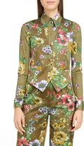 Marc Jacobs Runway  Floral Print Satin Vest