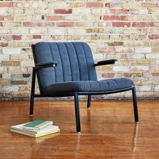 Dunlop Gus* Modern Powder Coat Lounge Chair Gus* Modern Upholstery Color: Vintage Mineral, Leg Color: Steel Painted Black